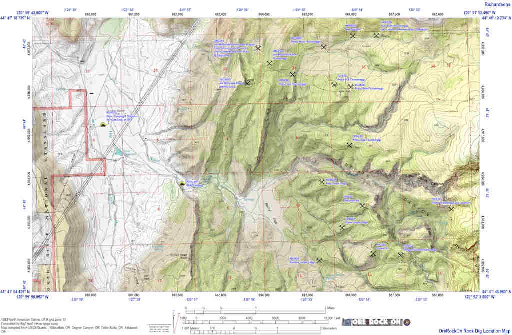 Rockhounding California Map.Ore Rock On Oregon Rockhounds Online Rockhoung Field Guide